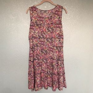EUC Aline Colorful Summer Dress with Ruffles M